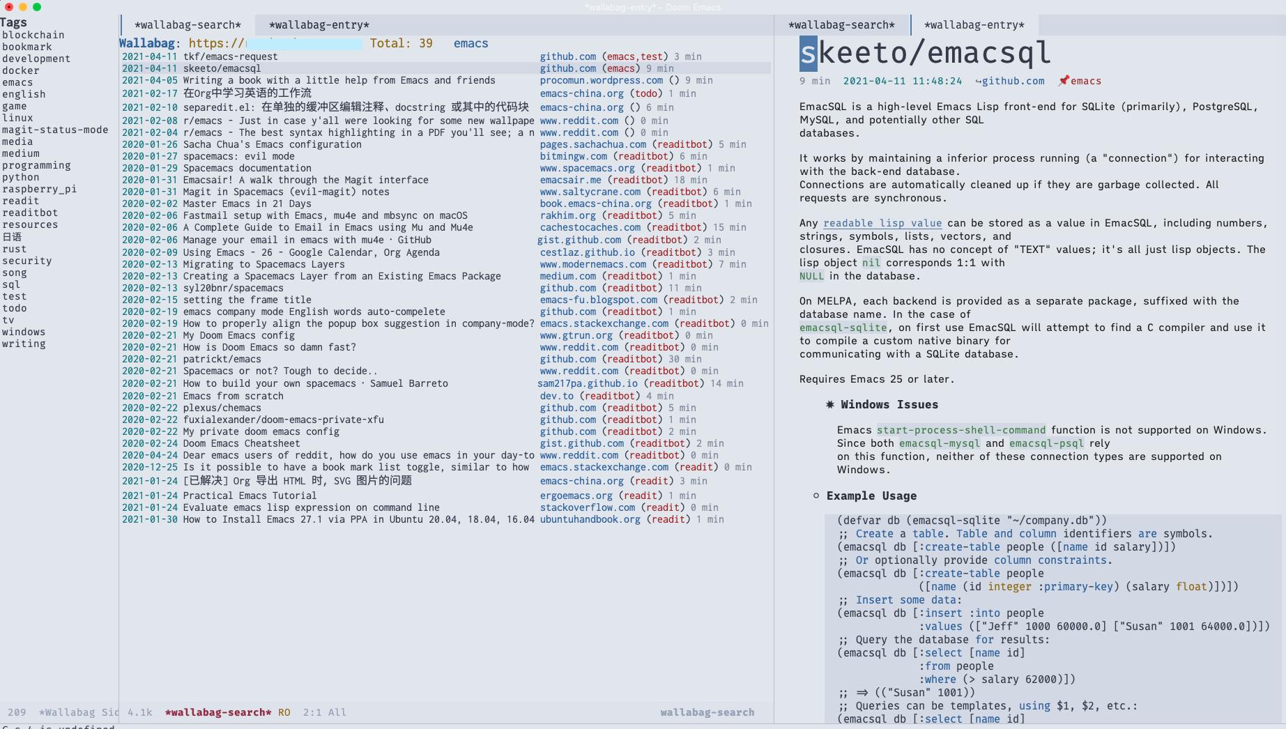 Wallabag en Emacs